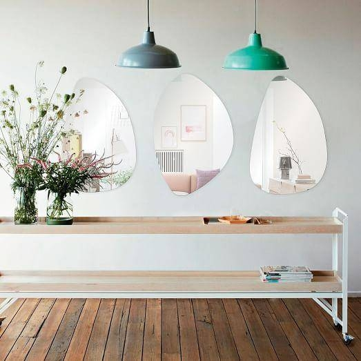 Freeform Wall Mirrors In Unframed Wall Mirrors (#16 of 30)