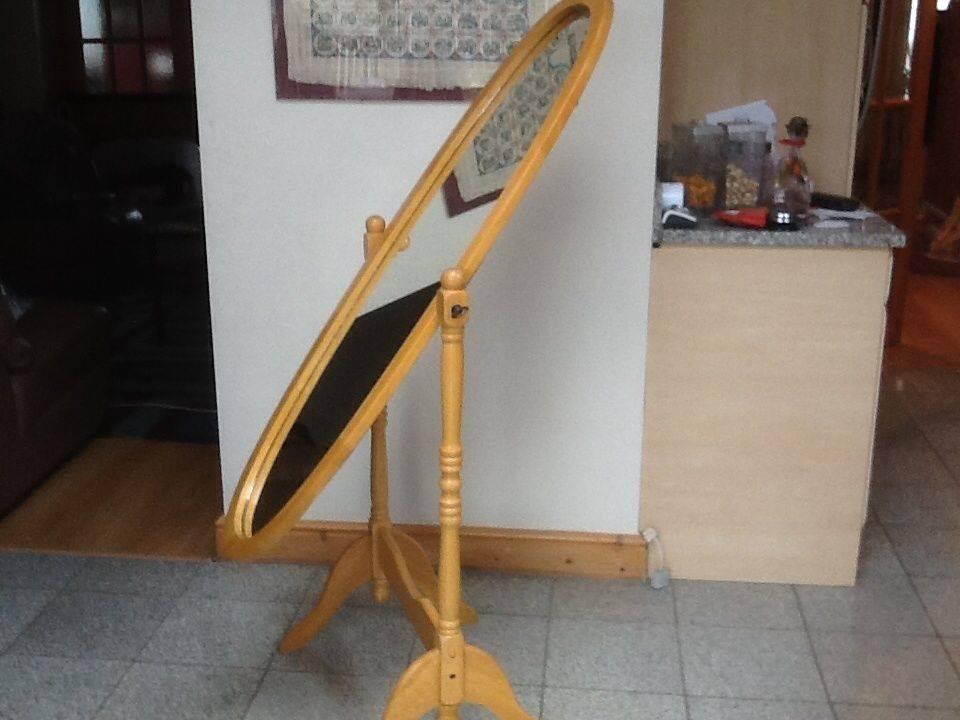 Freestanding Full Length Cheval Mirror 58cm X155cm Beechwood Within Full Length Cheval Mirrors (View 13 of 20)