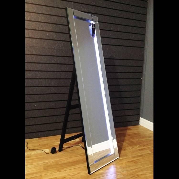 Freestanding Led Cheval Mirror 158 X 45Cm Led Cheval Mirror 158 X Within Cheval Freestanding Mirrors (#23 of 30)