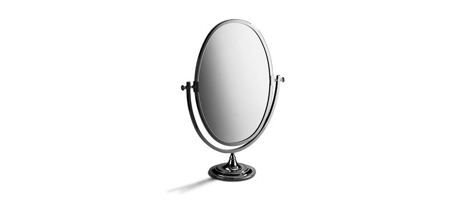 Freestanding Oval Mirror (No Magnification) | Samuel Heath Intended For Free Standing Oval Mirrors (#13 of 20)