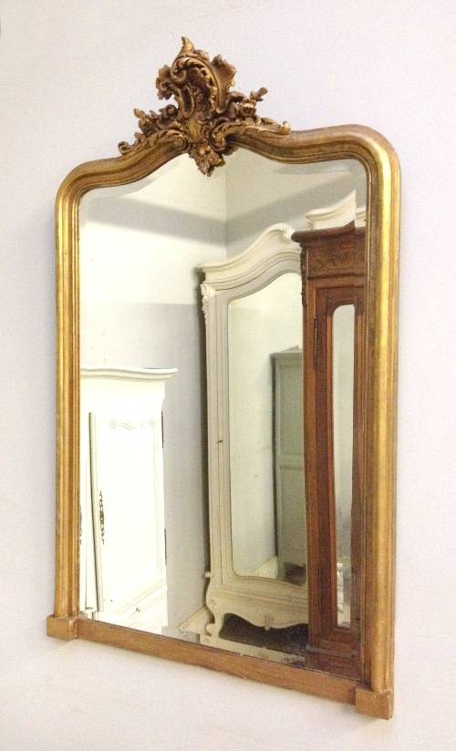 French Antique Mirrors, French Mirrors, Crested Mirrors, Gilded Within French Rococo Mirrors (#8 of 15)
