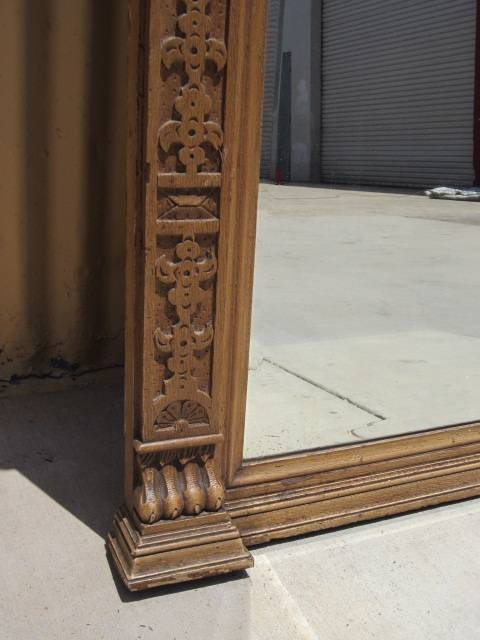 French Antique Wall Mirror Carved Large Pier Mirror Antique Furniture For Large Antique Wall Mirrors (#14 of 20)