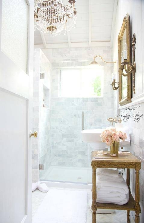French Bathroom With French Gold Full Length Mirror – French Regarding French Full Length Mirrors (View 10 of 20)