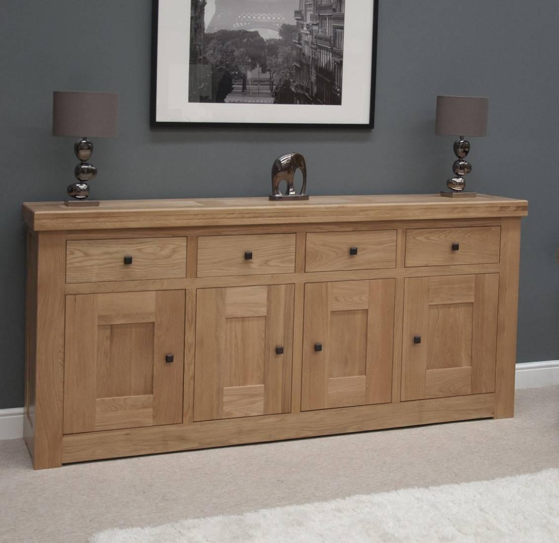 French Bordeaux Oak Extra Large 4 Door Sideboard | Oak Furniture Uk Pertaining To Sideboards Uk Sale (#8 of 20)