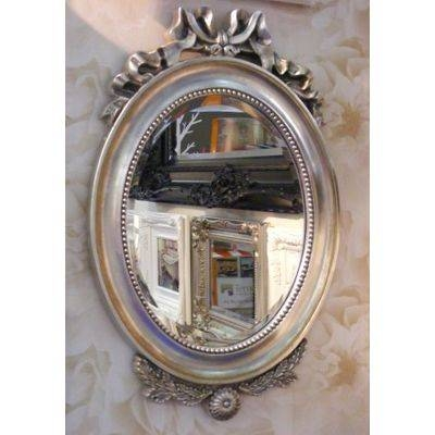 French Champagne Silver Paris Wall Mirror – Ayers & Graces Online For French Style Wall Mirrors (#14 of 30)