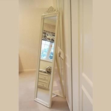 French Chic Style Cream Cheval Mirror – Artifax Mirrors Throughout Cream Cheval Mirrors (#12 of 15)