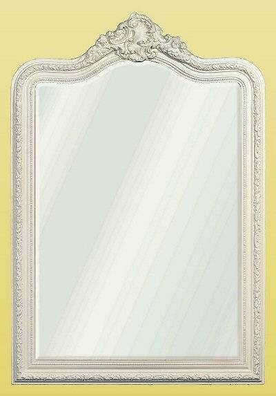 French Decorative Mirror, White | French Mirror Company In French White Mirrors (#12 of 15)