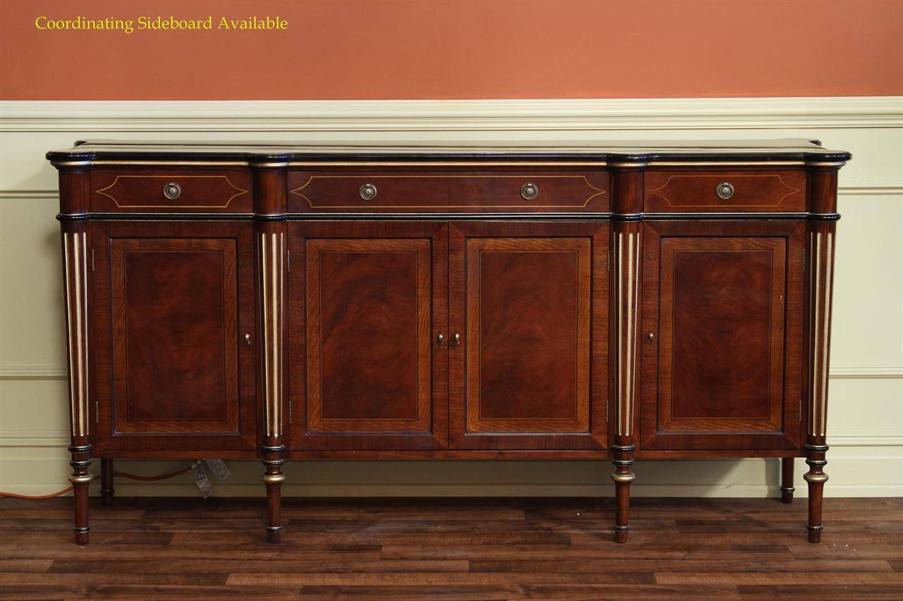 French Empire Double Pedestal Dining Table|12 Seat Dining Table Pertaining To French Style Sideboards (View 1 of 20)