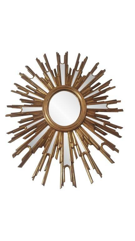French Extra Large Sunburst Mirror | Vinterior For Extra Large Sunburst Mirrors (#9 of 20)