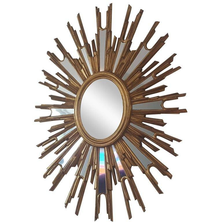 French Extra Large Sunburst Mirror | Vinterior In Extra Large Sunburst Mirrors (#10 of 20)