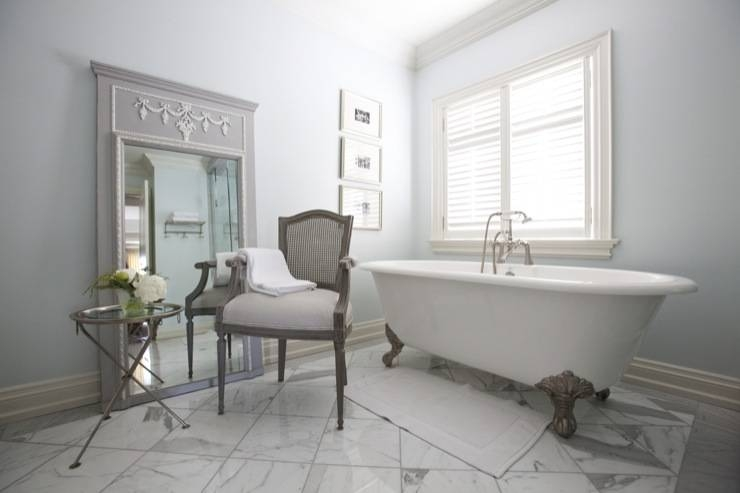 French Floor Mirror – French – Bathroom – Jennifer Backstein Interiors Throughout French Style Bathroom Mirrors (#24 of 30)