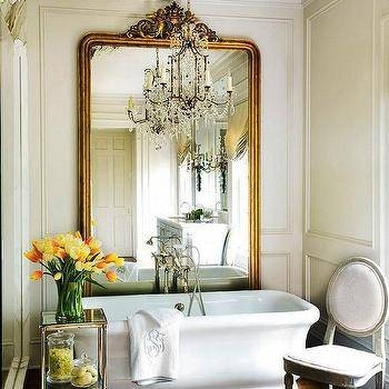 French Floor Mirror – French – Bathroom – Jennifer Backstein Interiors Within French Floor Mirrors (#15 of 20)