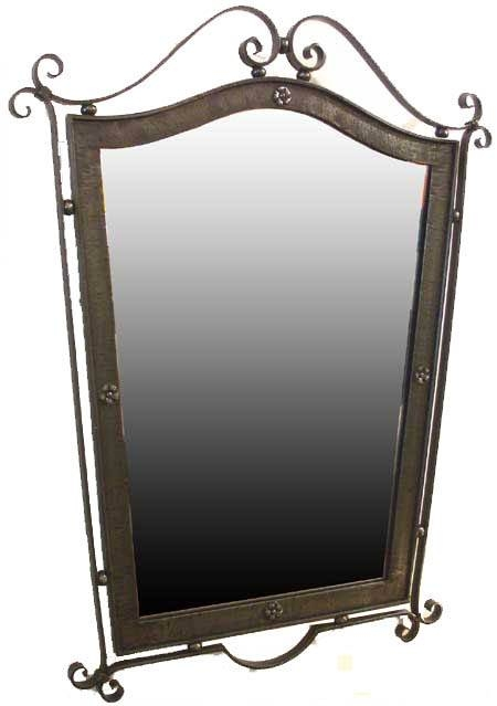 French Forties Art Deco Wrought Iron Mirror | Modernism Inside Rod Iron Mirrors (#9 of 15)