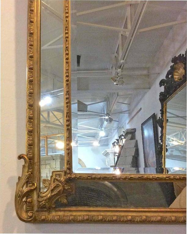 French Gold Gilt Mirror With Cherubs And Beveled Glass For Sale At For French Gilt Mirrors (View 21 of 30)