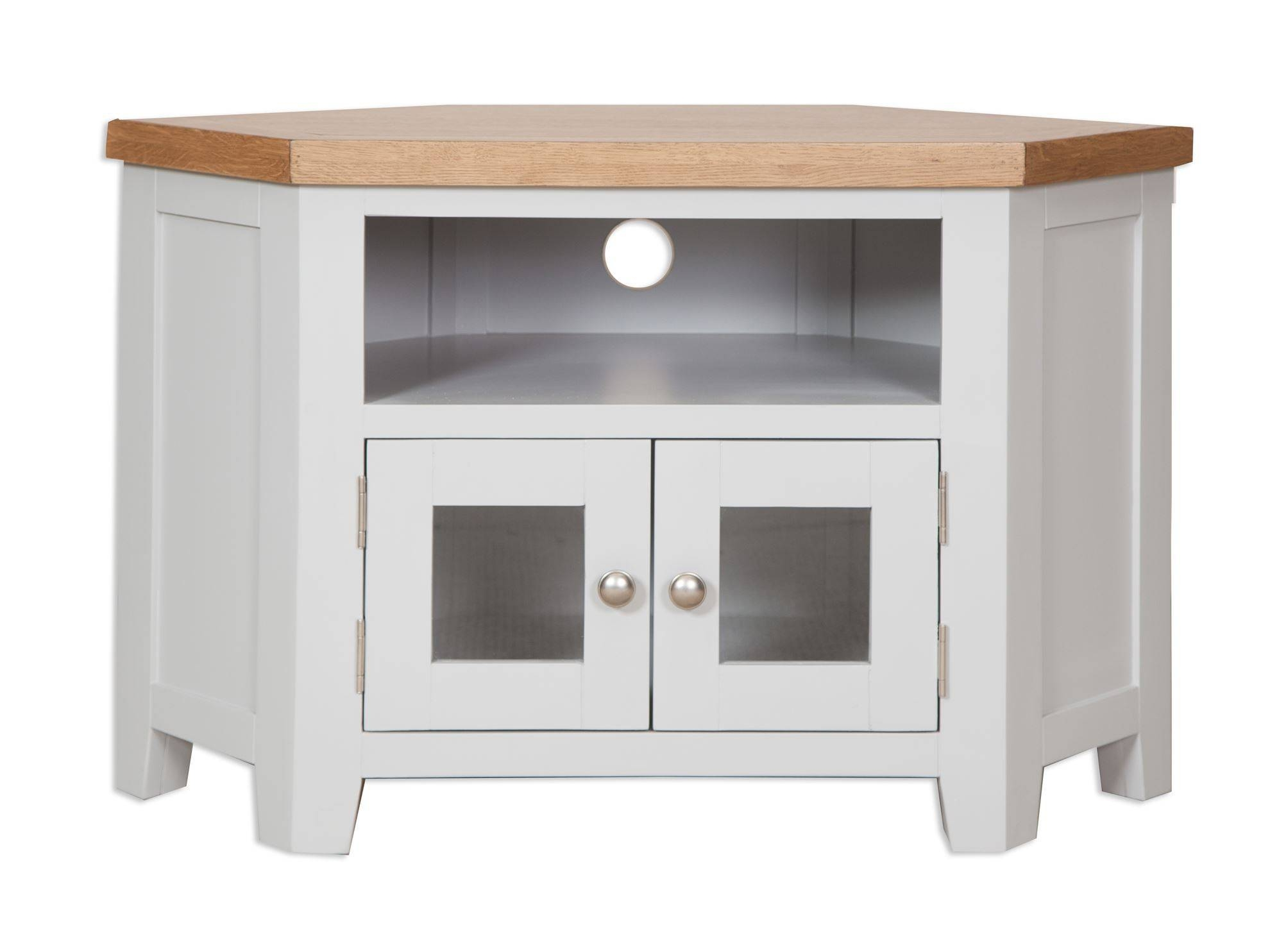 French Grey Glazed Corner Tv Unit – Cambridge Home & Garden Inside Corner Sideboard Unit (View 5 of 20)