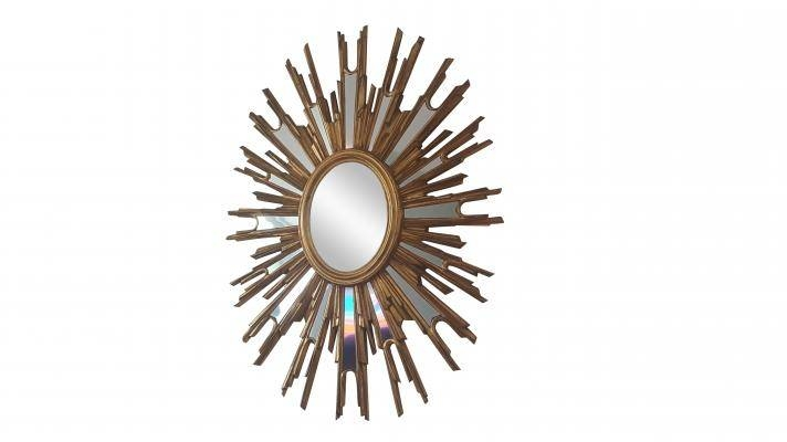 French Large Sunburst Mirror, 1970S For Sale At Pamono For Extra Large Sunburst Mirrors (#13 of 20)