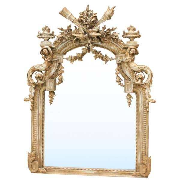French Louis Xvi Gilded Mirror – Inessa Stewart's Antiques For Antique Gilded Mirrors (View 5 of 20)