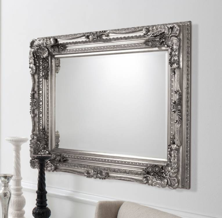 French Mirrors | Fancy Mirrors | Large Mirrors | Decorative With Regard To Vintage Silver Mirrors (View 13 of 20)
