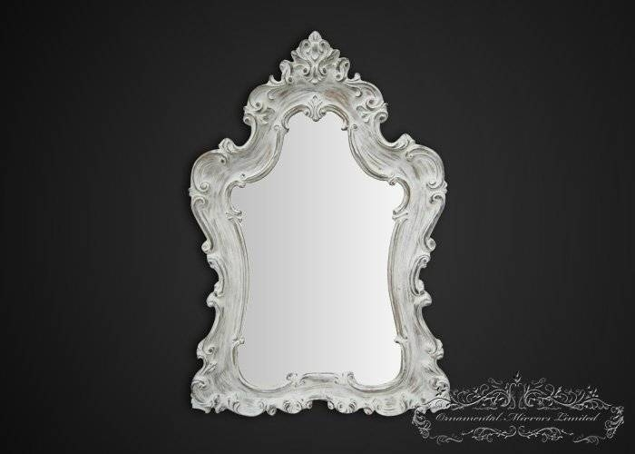 French Mirrors, Shabby Chic Mirrors Within Black Shabby Chic Mirrors (#18 of 20)