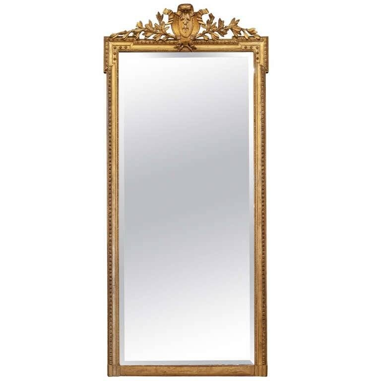 French Napoleon Iii Period Full Length Gold Leafed Mirror At 1Stdibs With Regard To Gold Full Length Mirrors (#16 of 30)
