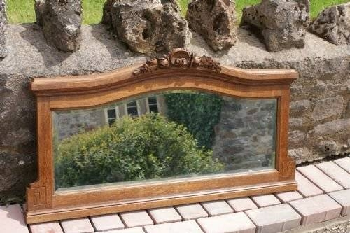 French Oak Over Mantle Wall Mirror | 170024 | Sellingantiques.co (#23 of 30)