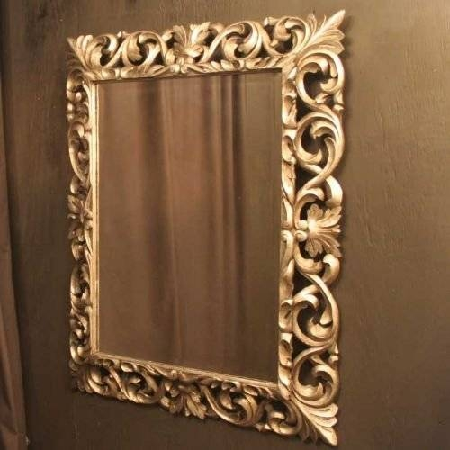 French Silver Gilded Acanthus Repousse Mirror | 152538 With Silver Gilded Mirrors (#25 of 30)