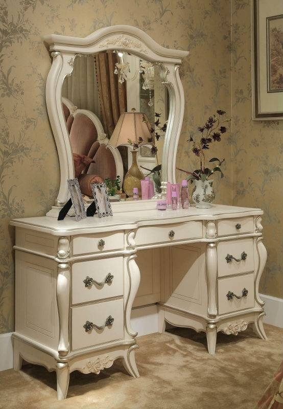French Style Bedroom Dressing Table With Mirror,classic Elegant With Regard To French Style Dressing Table Mirrors (#11 of 20)