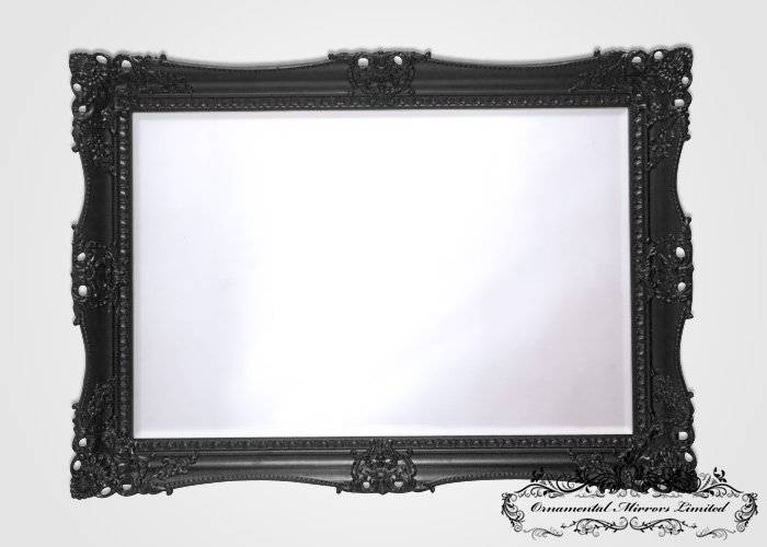 French Style Black Mirror Within Black Ornate Mirrors (#19 of 30)