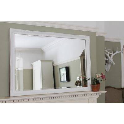 French Style White Juliet Overmantle Mirror Regarding Over Mantle Mirrors (#13 of 30)