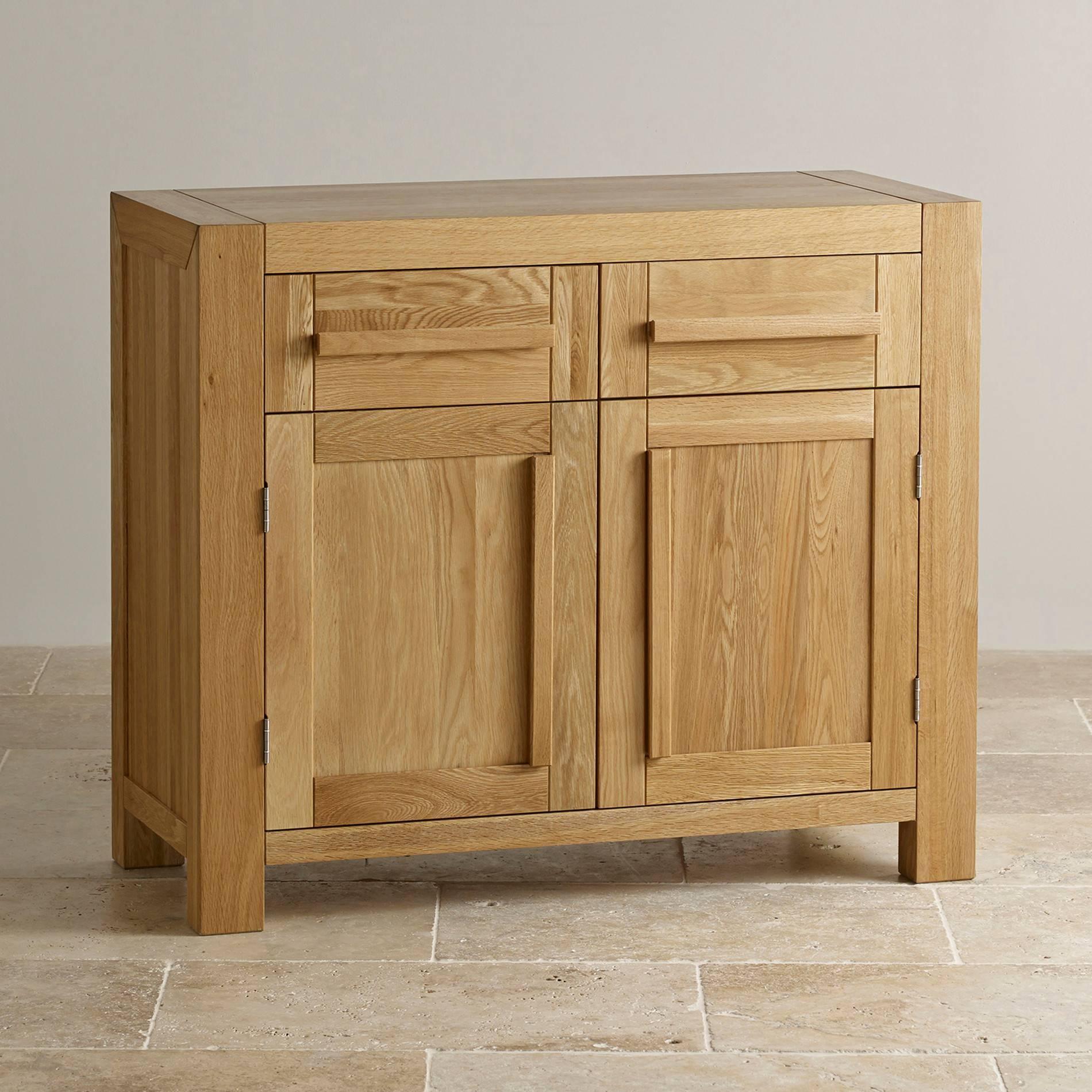 Fresco Natural Solid Oak Small Sideboard | Oak Furniture Land Intended For Sideboards Oak (#7 of 20)