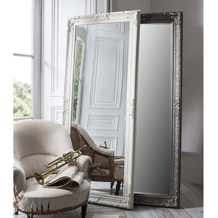 Full Length Antique Cream Mirror 190X81Cm Pembridge Antique Cream Regarding Large Cream Mirrors (#21 of 30)