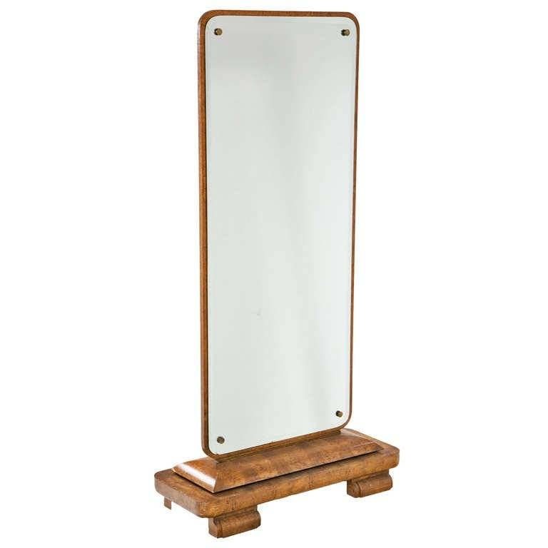 Full Length Art Deco Dressing Mirror European Circa 1930 At 1Stdibs Within Art Deco Full Length Mirrors (#17 of 20)