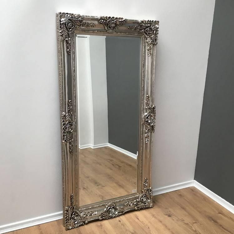 Full Length Champagne Silver Antique Effect Mirror 200 X 100Cm With Full Length Antique Mirrors (#15 of 30)
