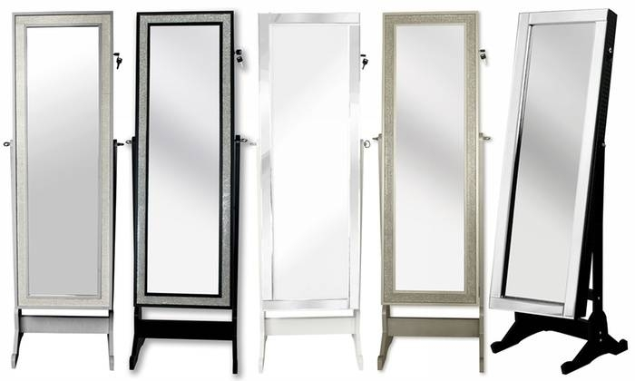 Full Length Cheval Mirror Jewelry Armoire | Groupon Inside Full Length Cheval Mirrors (View 4 of 20)