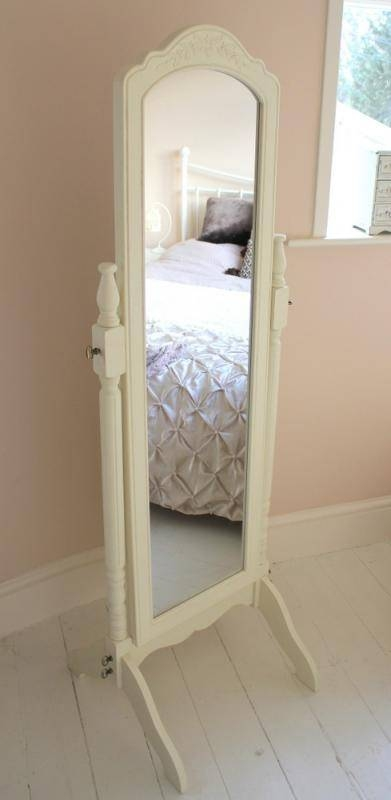 Full Length Chic Cheval Mirror Bedroom Free Standing Dressing Room Intended For Vintage Free Standing Mirrors (#20 of 30)