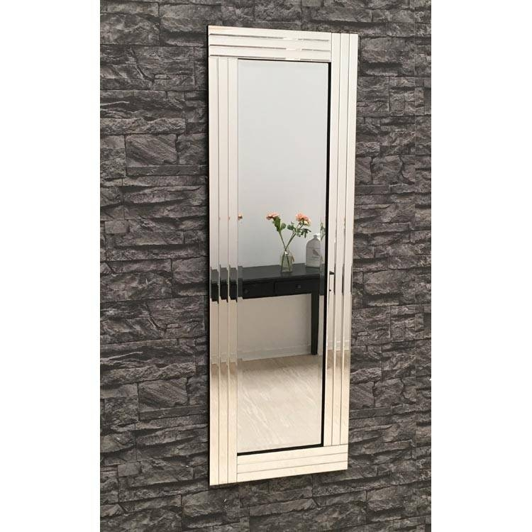 Full Length Clear Glass Triple Frame Mirror 120 X 40 Cm Triple With Full Length Venetian Mirrors (#5 of 15)