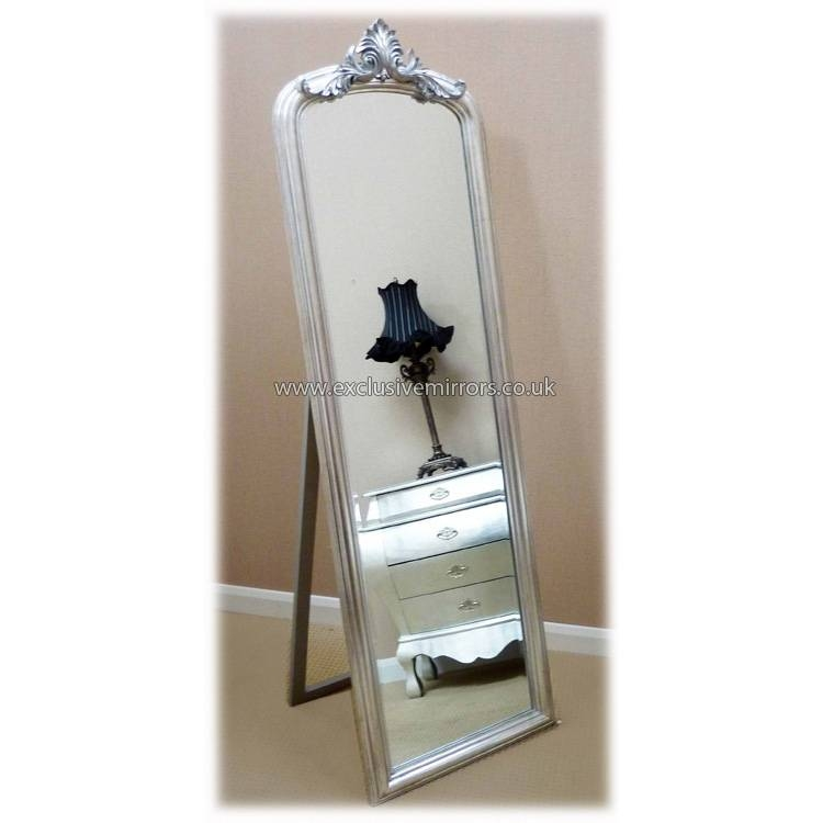 Full Length Free Standing Mirror F–F 2017 With Regard To Silver Free Standing Mirrors (View 13 of 20)