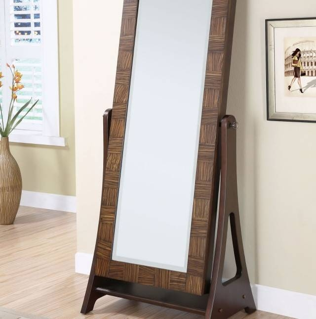 Full Length Mirror Jewelry Armoire | Home Design Ideas Regarding Full Length Free Standing Mirrors With Drawer (#18 of 20)