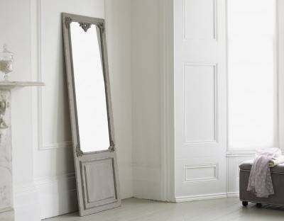 Full Length Mirror – Maison Distressed Hanging Mirror In Grey Throughout Long Length Mirrors (#20 of 20)