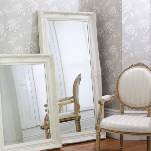 Full Length Ornate Cream Isabella Mirror 173 X 86Cm Full Length Inside Cream Ornate Mirrors (#15 of 20)