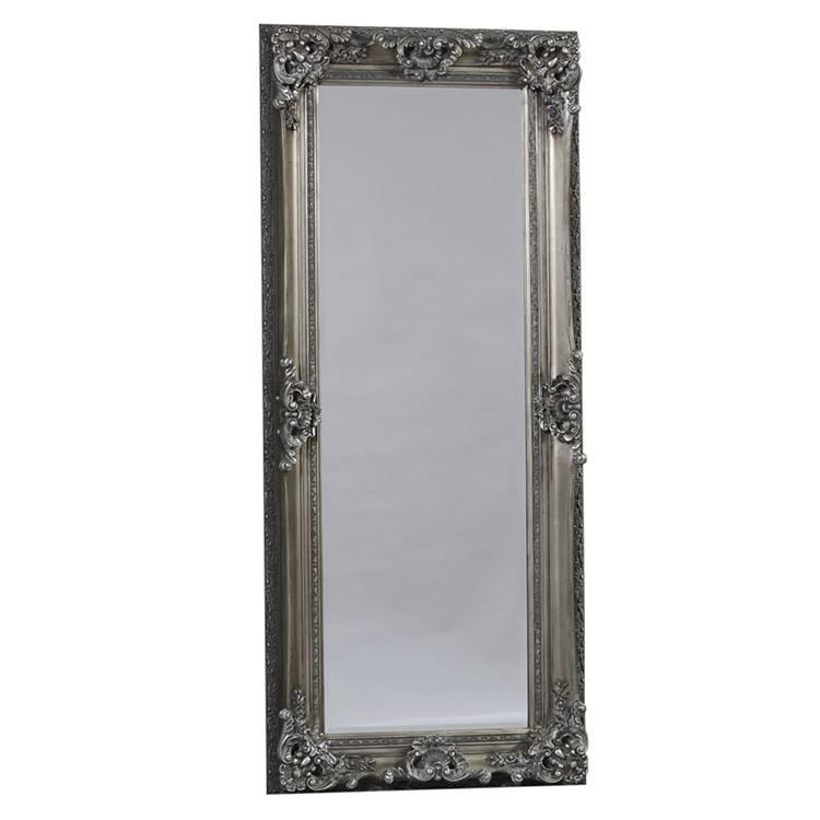 Full Length Ornate Silver Chelsea Mirror 195 X 85 Cm Chelsea Within Full Length Silver Mirrors (#9 of 20)