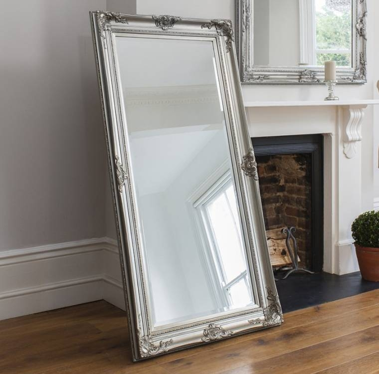Full Length Ornate Silver Isabella Mirror  (#9 of 30)