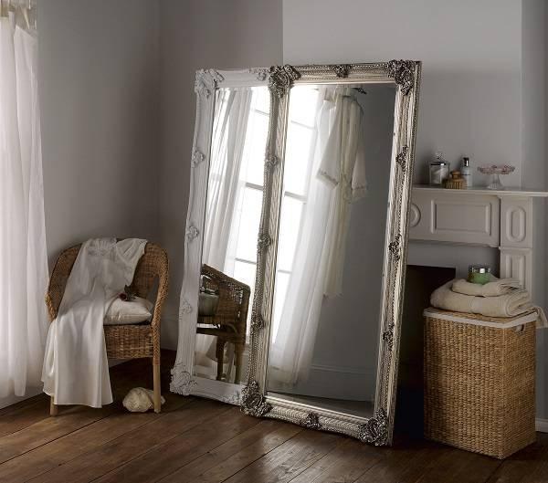 Full Length Ornate Silver Mirror 173 X 81Cm Ornate Silver Mirror Throughout Full Length Ornate Mirrors (#14 of 30)