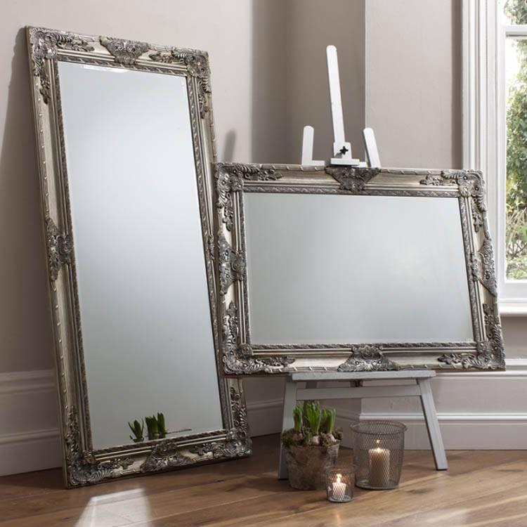 Full Length Silver Mirror – James – 170X85 Cm Large James Style Throughout Full Length Silver Mirrors (#11 of 20)