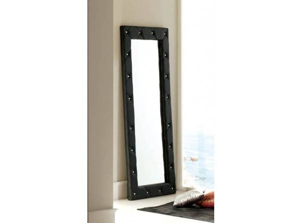 Furniture 621 Nelly E 95 Mirror Free Standing In Black Pertaining To Free Standing Black Mirrors (#17 of 30)