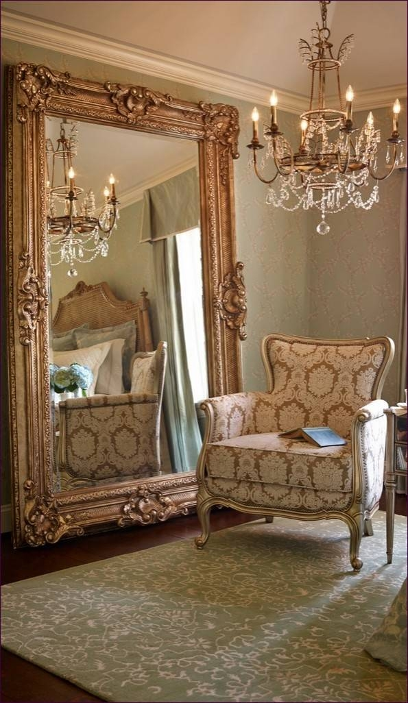 Furniture : Beautiful Floor Mirrors Big Round Wall Mirrors Living For Frameless Arched Mirrors (#14 of 20)