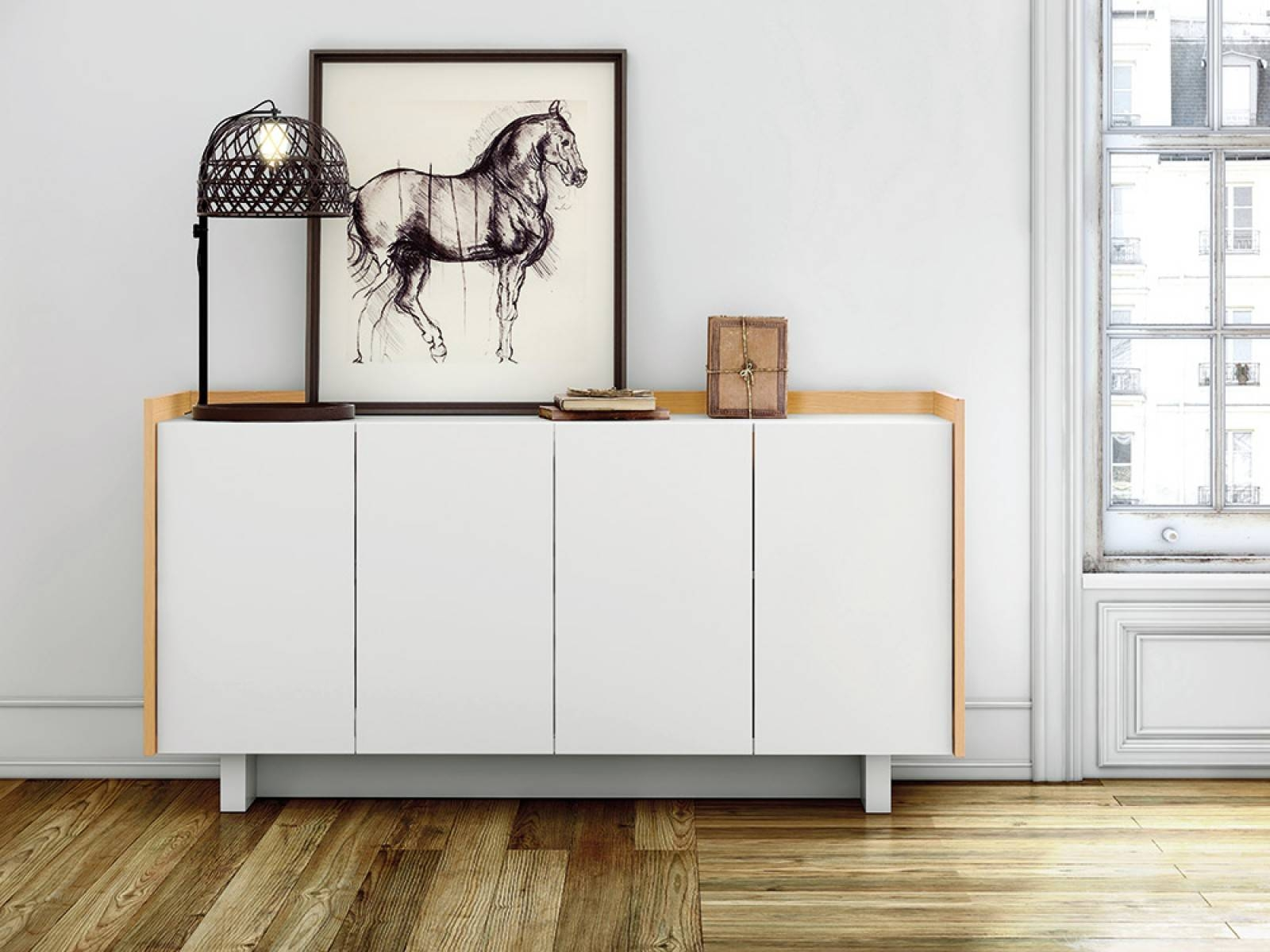 Furniture: Beautiful Profile Modern Sideboard For Living Room Inside White Modern Sideboard (#4 of 20)