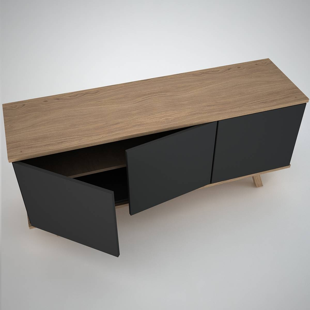 Furniture: Beautiful Profile Modern Sideboard For Living Room Throughout Sideboards (#10 of 20)