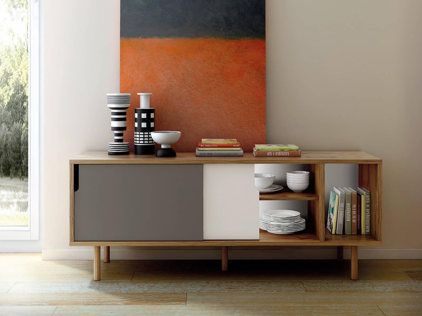 Furniture: Beautiful Profile Modern Sideboard For Living Room With Modern Living Room Sideboards (View 4 of 20)