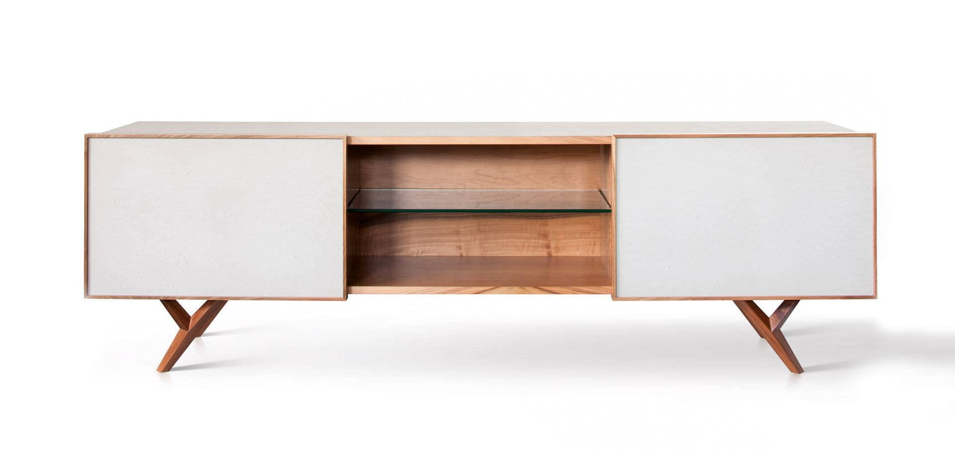 Furniture: Beautiful Profile Modern Sideboard For Living Room With Regard To White Modern Sideboard (#5 of 20)